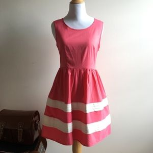 Pink and White ModCloth dress by Ya Los Angeles